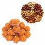 1 kg assorted dry fruits with 1 kg pure ghee boondi laddoos