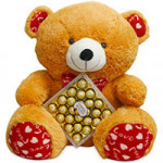 24 Pcs Ferrero Rocher Chocolate Box with cute teddy