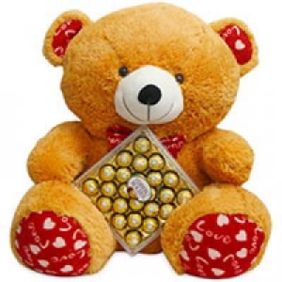 24 Pcs Ferrero Rocher Chocolate Box with cute teddy