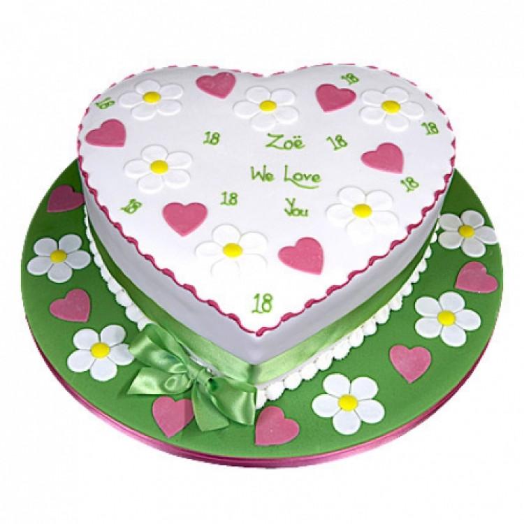Heart Shape Designer Cake