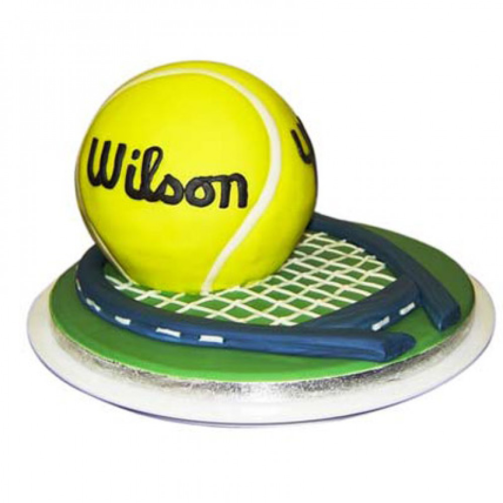 Tennis Birthday Cake With Name