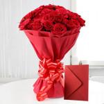Red Roses N Greeting Card