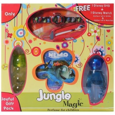 Jungle Magic Joyful Children Perfume Gift Pack with 1 Disney DVD and Disney Watch