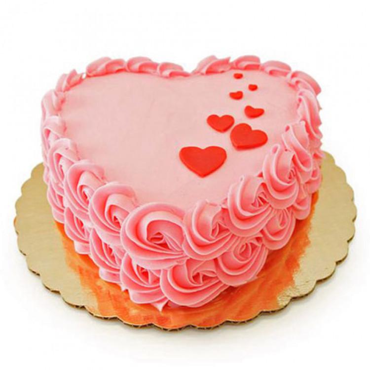 Floating Hearts Cake