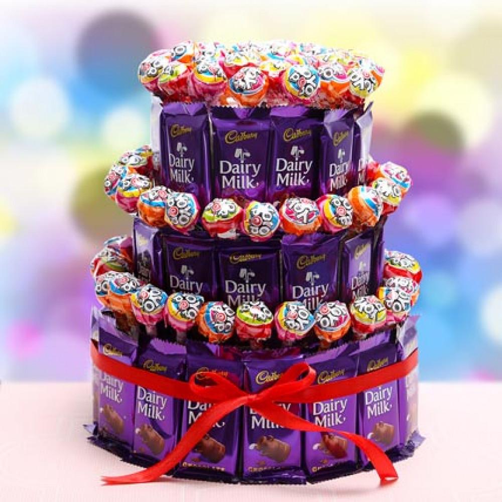 3 Tier Choco Pop Cake Chennai Online Florist