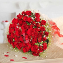 Love Showers 50 Red Roses Bunch