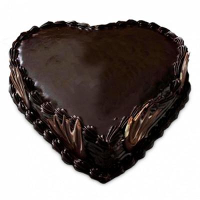 Eggless Heart Shape Truffle Cake 1Kg