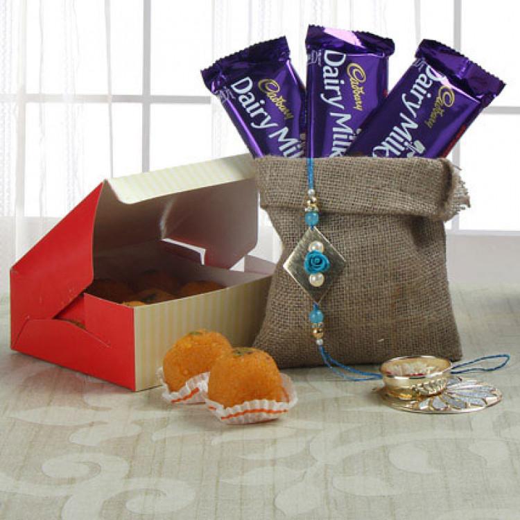 Rakhi Wishes With Choco